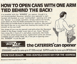 Can Opener Old Advert