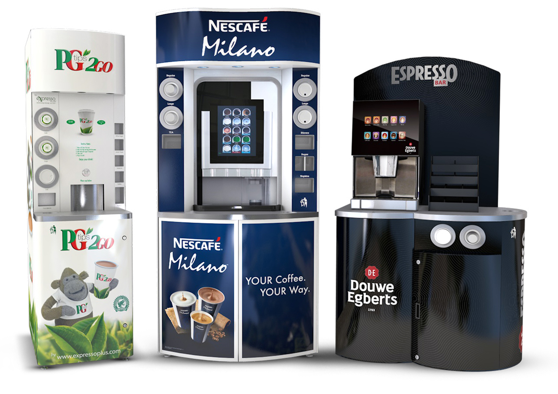 Bonzer Dispensers in Coffee Towers