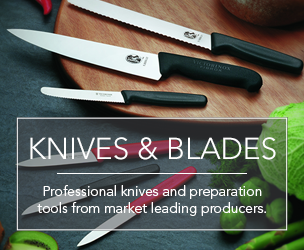 Professional knives and preparation tools from market leading producers.