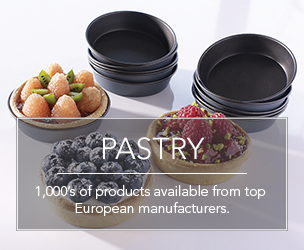 1,000's of pastry related products available from top European manufacturers